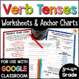 Verb Tenses Worksheets and Anchor Charts