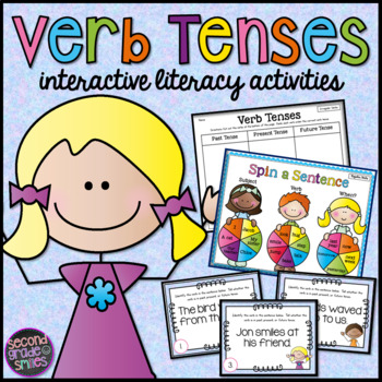 Verb Tenses (Task Cards, Spin Games, & Sorts)