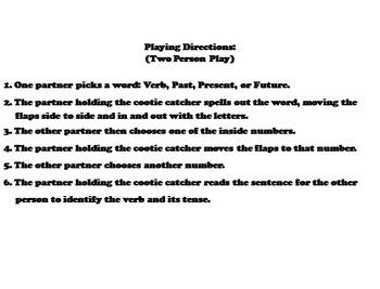 Past Present Future Verbs 3rd, 4th Grade