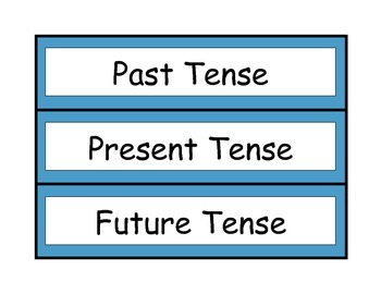 Verb Tenses Animal Edition: Past, Present and Future