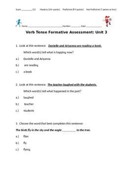 Verb Tenses Assessment
