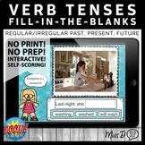 Verb Tenses Real Photos BOOM CARDS™ (Past, Present Progressive, Future)