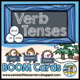 Verb Tenses: BOOM Task Cards (Christmas / Winter Edition)