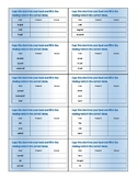 Verb Tenses Chart Task Cards - Present, Past, Future