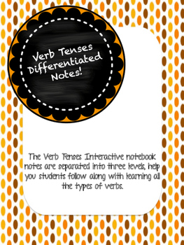 Verb Tenses Differentiated Notes