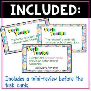 Verb Tenses Digital Task Cards