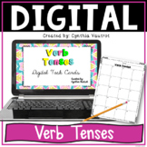 Verb Tenses Digital Task Cards for Google Slides