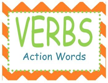 Verb Tenses Display Signs