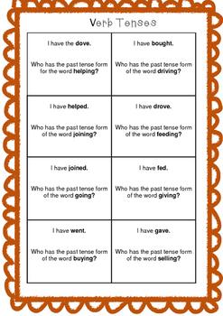 Verb Tenses Game