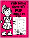 Verb Tenses Game NO PREP- FREEBIE of the WEEK