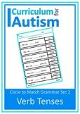 Verb Tenses Grammar Worksheets Autism Special Education Sp