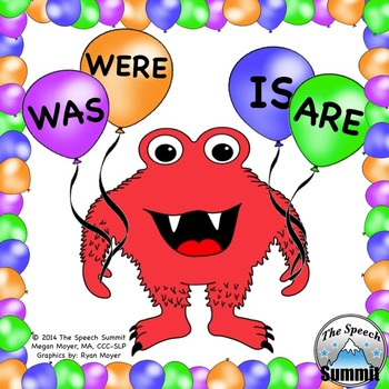 Verb Tenses: Is, Are, Was, & Were Balloons by The Speech ... | 350 x 350 jpeg 50kB