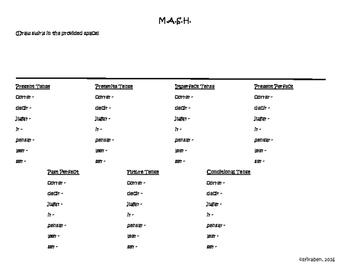 Verb Tenses MASH Review