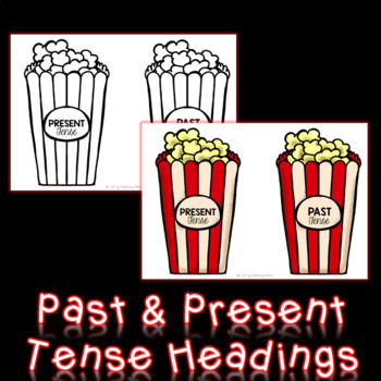 Verb Tenses - Past and Present Tense Sort