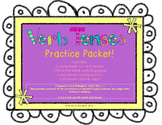 Verb Tenses Practice Packet (Common Core LACC.3.L.1.1) with QR codes
