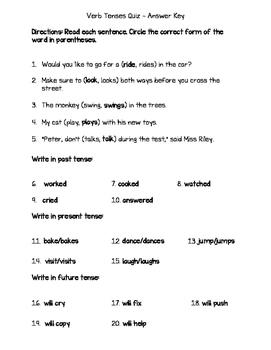 Verb Tenses Quiz