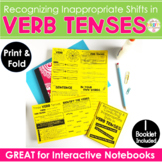 Verb Tense Shifts Interactive Notebook Print & Fold Activity