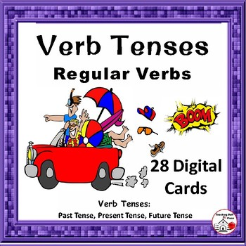 DIGITAL Verb Tenses ... Regular Verbs ... Grammar: BOOM™ Internet Task Cards