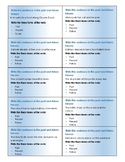 Verb Tenses Sentence Writing Task Cards - Present, Past, Future