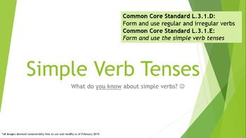 Verb Tenses (Simple, Perfect, Progressive/Continuous, Infinitive, etc.)