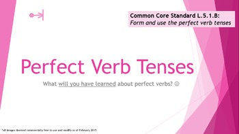 Progressive, Perfect, Simple, Infinitive Verb Tenses