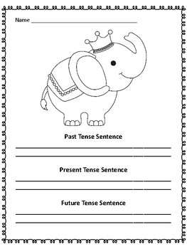 Verb Tenses Task Cards and More:  Use the Cards 3 Ways