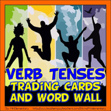 Verb Tenses Trading Cards and Word Wall