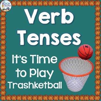Verb Tenses Trashketball Review Game