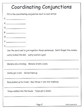 Verb Tenses and Coordinating Conjunctions L3.1e L3.1h 3rd Gr. Unit 6