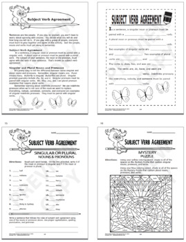 Verb Tenses Activities + Subject-Verb Agreement Worksheet and TWO Lessons