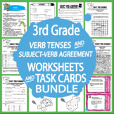 Subject-Verb Agreement Lessons + Past, Present, Future Tense Verbs Activities