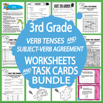 Subject Verb Agreement Activities Past Present Future Tense Practice 3rd Grade