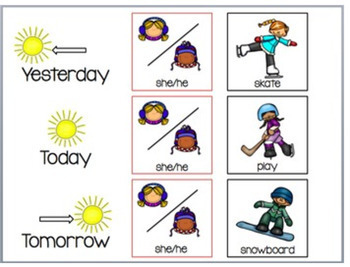 Verb Tenses in the Winter (FREE)