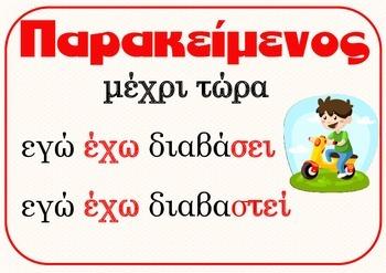 Verb Tenses (xroinoi rimaton)