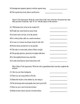 Verb Test 6