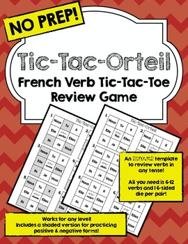 Blank Template: French Verb Tic-Tac-Orteil (Tic-Tac-Toe)