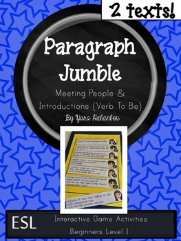 Verb To Be Paragraph Sequencing