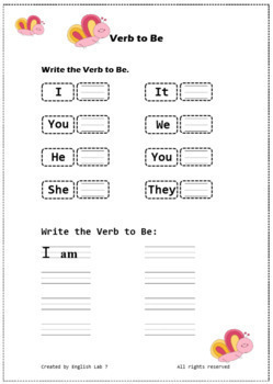 Verb To Be- Positive Form
