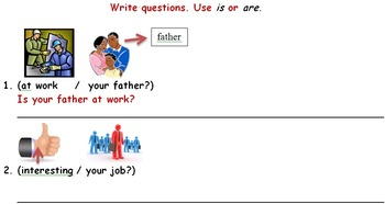 Verb To Be - am/is/are questions