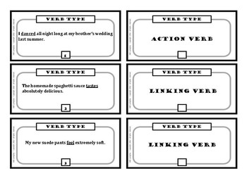 Types of Verbs (Action, Linking, Helping)