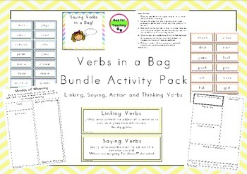 Verb Types Bundle Activity Pack