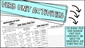 Verb Unit Activities/Worksheets