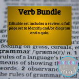 Verb Bundle: Identify, Diagram, Review, and Test