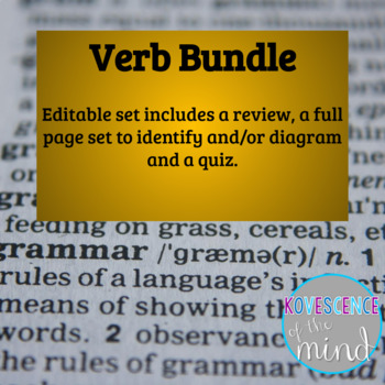 Verb Unit: Identify, Diagram, Review, and Test