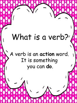Verb Unit: Powerpoint Activities Word Sort
