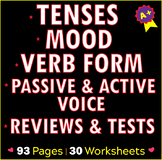 Verb Usage | Tense Practice | Active and Passive Usage | E