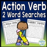 Verb Word Search: Two Word Searches included   {Action Verbs Activity}