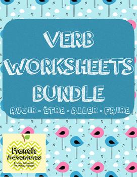 Verb Worksheets Bundle! (Avoir, être, aller, faire)