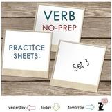 Verb Worksheets No PREP: Set  3
