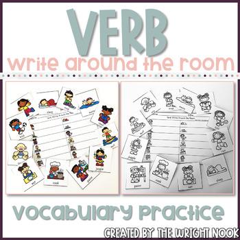 Verb Write Around the Room
